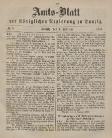 Amts-Blatt der Königlichen Regierung zu Danzig, 1. Februar 1873, Nr. 5