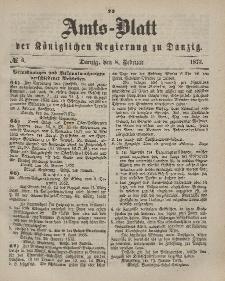 Amts-Blatt der Königlichen Regierung zu Danzig, 8. Februar 1873, Nr. 6
