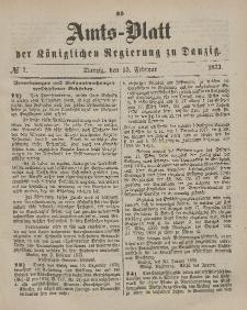 Amts-Blatt der Königlichen Regierung zu Danzig, 15. Februar 1873, Nr. 7