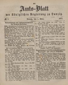 Amts-Blatt der Königlichen Regierung zu Danzig, 1. März 1873, Nr. 9