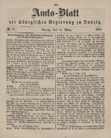 Amts-Blatt der Königlichen Regierung zu Danzig, 15. März 1873, Nr. 11