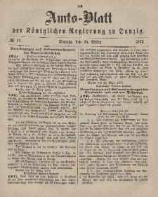 Amts-Blatt der Königlichen Regierung zu Danzig, 29. März 1873, Nr. 13