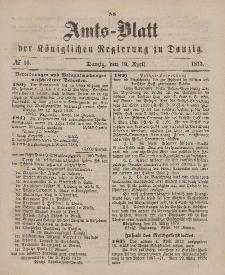 Amts-Blatt der Königlichen Regierung zu Danzig, 19. April 1873, Nr. 16
