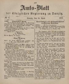 Amts-Blatt der Königlichen Regierung zu Danzig, 26. April 1873, Nr. 17