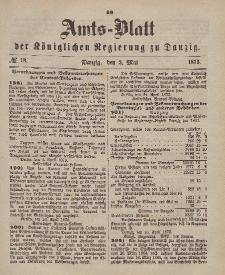 Amts-Blatt der Königlichen Regierung zu Danzig, 3. Mai 1873, Nr. 18