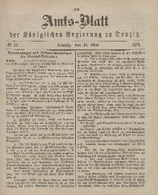Amts-Blatt der Königlichen Regierung zu Danzig, 31. Mai 1873, Nr. 22