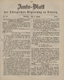 Amts-Blatt der Königlichen Regierung zu Danzig, 7. Juni 1873, Nr. 23