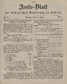 Amts-Blatt der Königlichen Regierung zu Danzig, 14. Juni 1873, Nr. 24