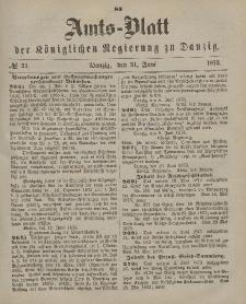 Amts-Blatt der Königlichen Regierung zu Danzig, 21. Juni 1873, Nr. 25