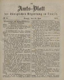 Amts-Blatt der Königlichen Regierung zu Danzig, 28. Juni 1873, Nr. 26