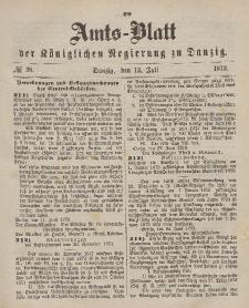 Amts-Blatt der Königlichen Regierung zu Danzig, 12. Juli 1873, Nr. 28