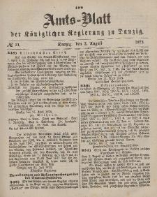Amts-Blatt der Königlichen Regierung zu Danzig, 2. August 1873, Nr. 31