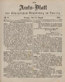 Amts-Blatt der Königlichen Regierung zu Danzig, 16. August 1873, Nr. 33