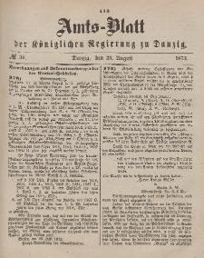Amts-Blatt der Königlichen Regierung zu Danzig, 23. August 1873, Nr. 34