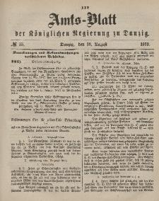 Amts-Blatt der Königlichen Regierung zu Danzig, 30. August 1873, Nr. 35