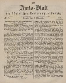 Amts-Blatt der Königlichen Regierung zu Danzig, 6. September 1873, Nr. 36