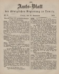 Amts-Blatt der Königlichen Regierung zu Danzig, 20. September 1873, Nr. 38