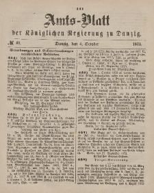 Amts-Blatt der Königlichen Regierung zu Danzig, 4. Oktober 1873, Nr. 40