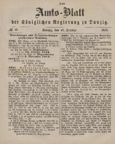 Amts-Blatt der Königlichen Regierung zu Danzig, 18. Oktober 1873, Nr. 42