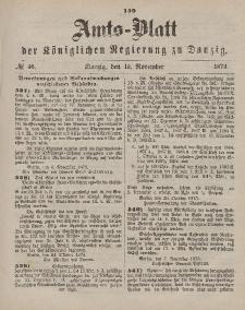 Amts-Blatt der Königlichen Regierung zu Danzig, 15. November 1873, Nr. 46