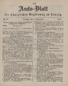 Amts-Blatt der Königlichen Regierung zu Danzig, 6. Dezember 1873, Nr. 49
