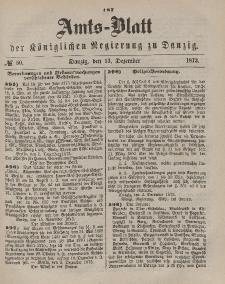 Amts-Blatt der Königlichen Regierung zu Danzig, 13. Dezember 1873, Nr. 50
