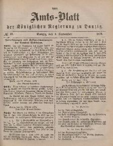 Amts-Blatt der Königlichen Regierung zu Danzig, 4. November 1876, Nr. 45