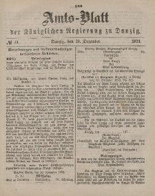 Amts-Blatt der Königlichen Regierung zu Danzig, 20. Dezember 1873, Nr. 51