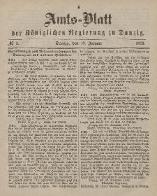 Amts-Blatt der Königlichen Regierung zu Danzig, 10. Januar 1872, Nr. 2