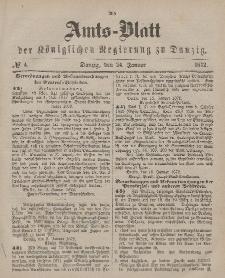 Amts-Blatt der Königlichen Regierung zu Danzig, 24. Januar 1872, Nr. 4
