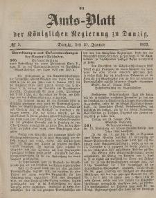 Amts-Blatt der Königlichen Regierung zu Danzig, 31. Januar 1872, Nr. 5
