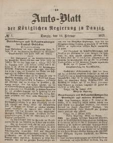 Amts-Blatt der Königlichen Regierung zu Danzig, 14. Februar 1872, Nr. 7