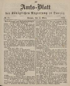 Amts-Blatt der Königlichen Regierung zu Danzig, 13. März 1872, Nr. 11