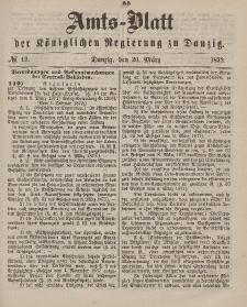 Amts-Blatt der Königlichen Regierung zu Danzig, 20. März 1872, Nr. 12