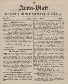 Amts-Blatt der Königlichen Regierung zu Danzig, 27. März 1872, Nr. 13