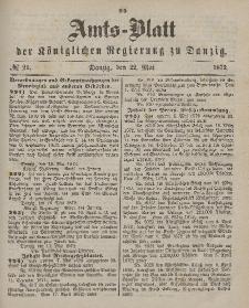 Amts-Blatt der Königlichen Regierung zu Danzig, 22. Mai 1872, Nr. 21