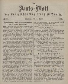 Amts-Blatt der Königlichen Regierung zu Danzig, 5. Juni 1872, Nr. 23