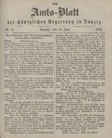 Amts-Blatt der Königlichen Regierung zu Danzig, 12. Juni 1872, Nr. 24