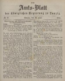 Amts-Blatt der Königlichen Regierung zu Danzig, 26. Juni 1872, Nr. 26