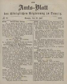 Amts-Blatt der Königlichen Regierung zu Danzig, 30. Juli 1872, Nr. 30