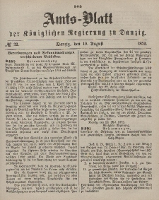 Amts-Blatt der Königlichen Regierung zu Danzig, 10. August 1872, Nr. 32