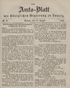 Amts-Blatt der Königlichen Regierung zu Danzig, 17. August 1872, Nr. 33
