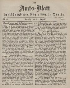 Amts-Blatt der Königlichen Regierung zu Danzig, 31. August 1872, Nr. 35