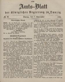 Amts-Blatt der Königlichen Regierung zu Danzig, 7. September 1872, Nr. 36