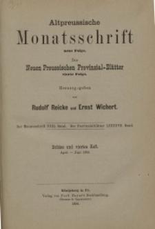 Altpreussische Monatsschrift, 1894, April-Juni, Bd. 31