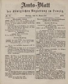 Amts-Blatt der Königlichen Regierung zu Danzig, 9. November 1872, Nr. 45