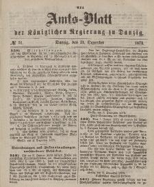 Amts-Blatt der Königlichen Regierung zu Danzig, 21. Dezember 1872, Nr. 51