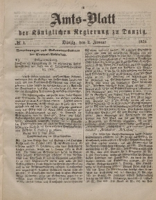 Amts-Blatt der Königlichen Regierung zu Danzig, 2. Januar 1875, Nr. 1