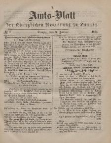 Amts-Blatt der Königlichen Regierung zu Danzig, 9. Januar 1875, Nr. 2