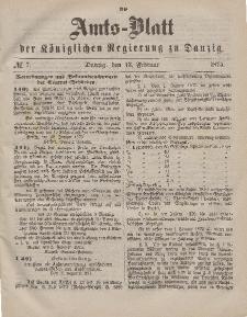 Amts-Blatt der Königlichen Regierung zu Danzig, 13. Februar 1875, Nr. 7